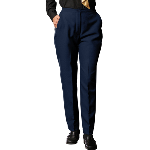 Imprinted Women's Polyester Flat Front Pants