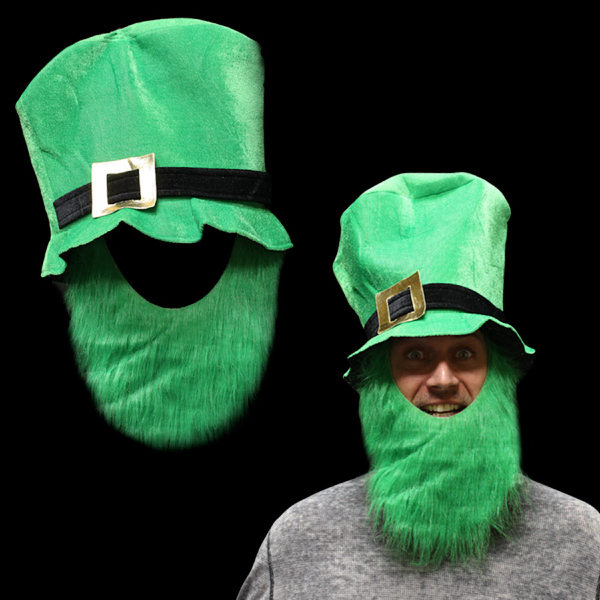 Promotional St. Patrick's Top Hat with Beard