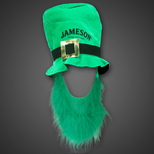 Imprinted St. Patrick's Top Hat with Beard