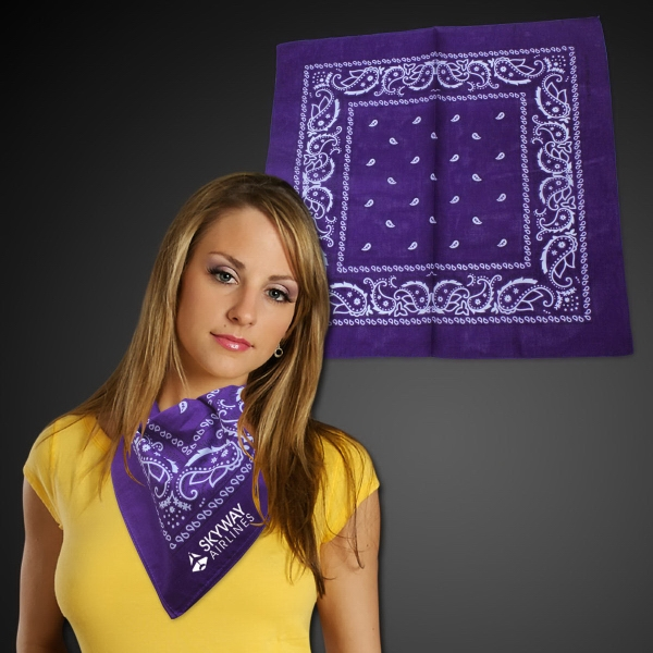 "Promotional Cotton Bandana 22"" x 22"""