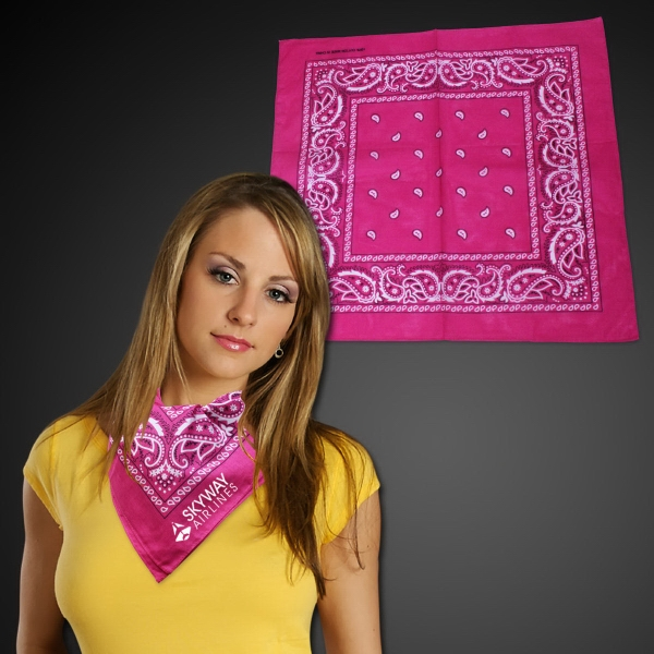 "Printed Cotton Bandana 22"" x 22"""