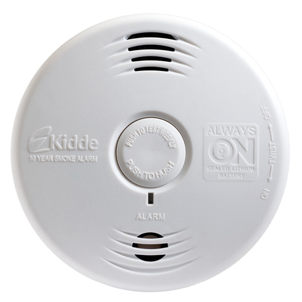Printed Bedroom Smoke Alarm with 10yr Sealed Battery and Voice