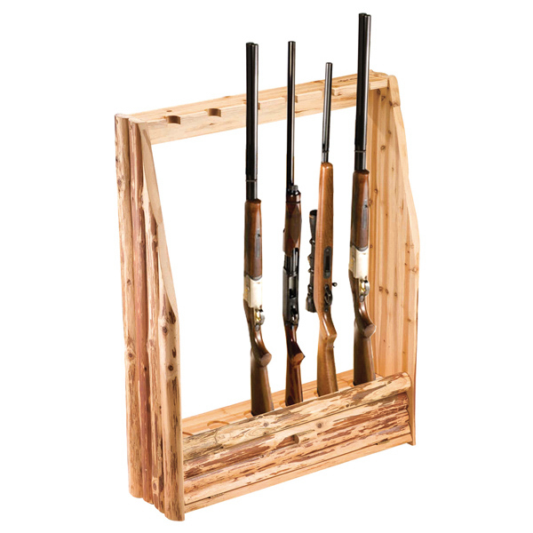 Custom 6 Gun Rack with Storage