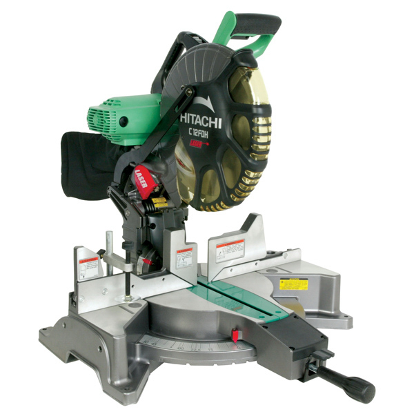 "Custom 12"" Dual Bevel Miter Saw with Laser Marker"