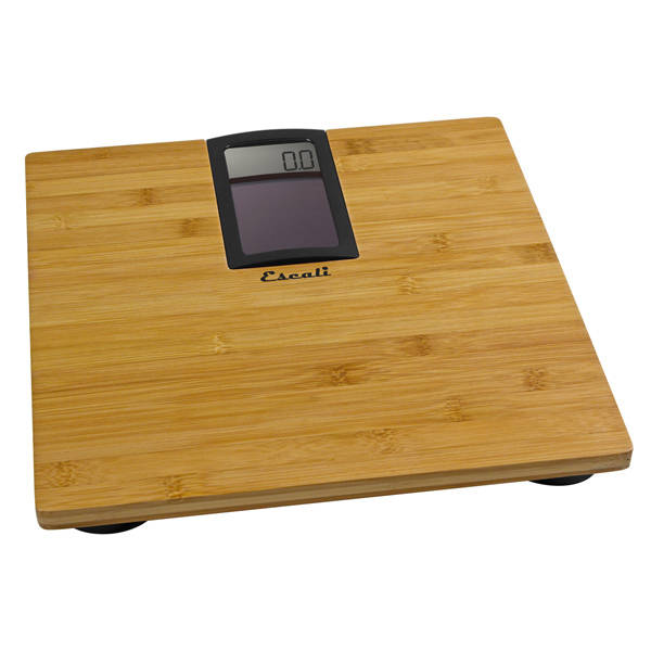 Imprinted Solar Powered Bamboo Bath Scale