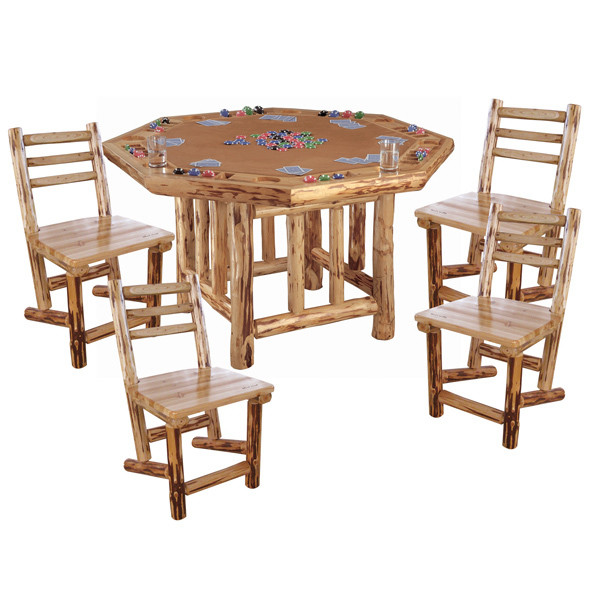 Personalized Poker Table and 4 Chairs
