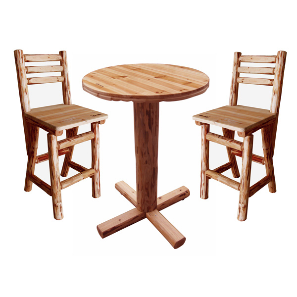 Custom Pub Table and 2 Chairs