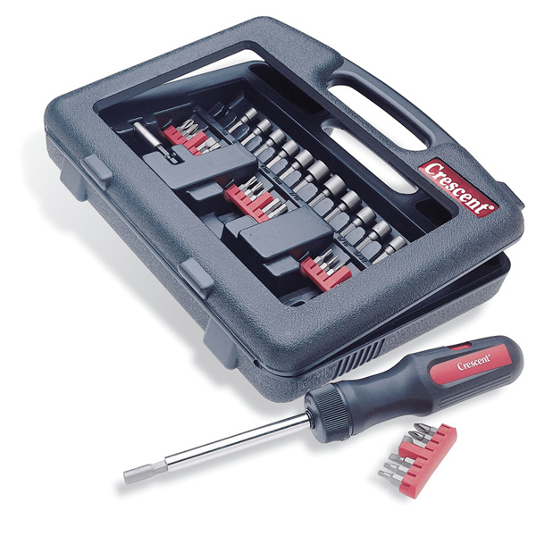Customized Crescent (R) 34-Pc. Power Driving Ratcheting Screwdriver Kit