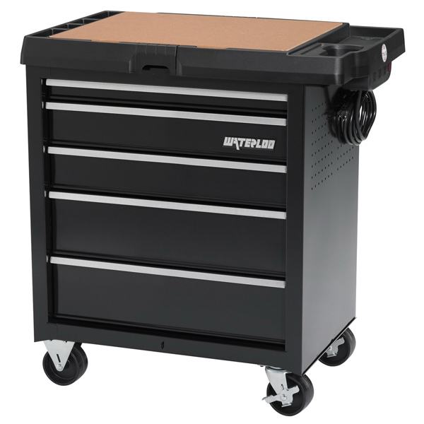 Imprinted 5-Drawer Project Center with Power