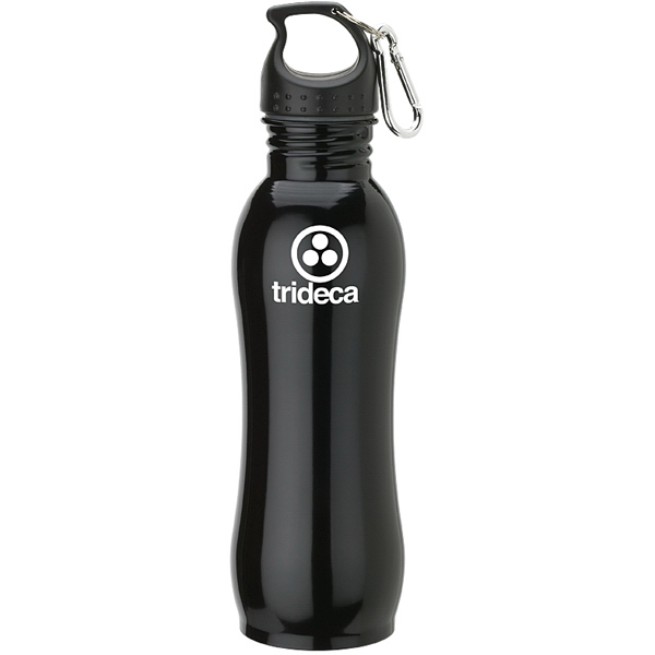 Imprinted Stainless bottle with Carabiner