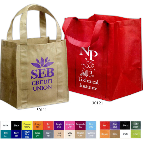 "Promotional Grocery Tote with 20"" Carrying Handles"
