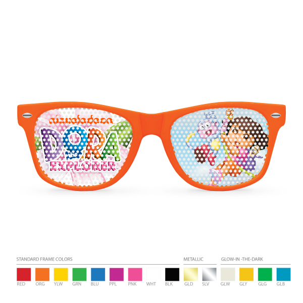 Personalized Kids Printed Lens Pinhole Wayfarer Sunglasses (clear lens)