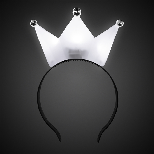 Customized White LED Crown Headband
