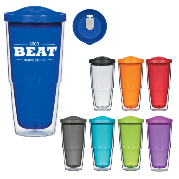 Printed 24oz Biggie Tumbler with Lid