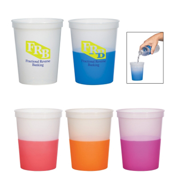 Customized 16oz Color Changing Stadium Cup