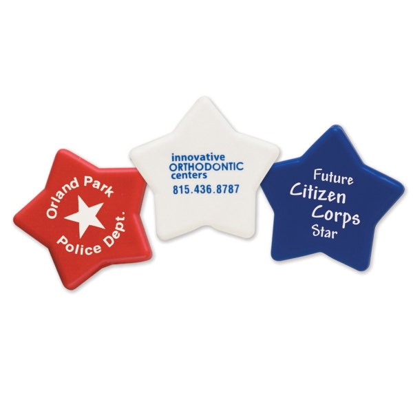 Personalized Patriotic Star Imprintable Pencil Top Eraser