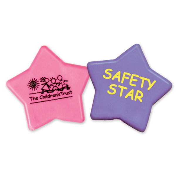 Imprinted Imprintable Pastel Star Pencil Top Eraser