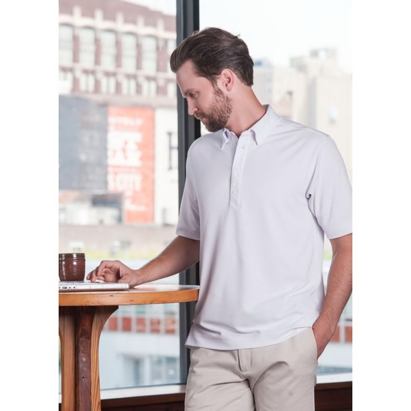Promotional Oxford Polo Short Sleeve Syntrel(TM) Coolmax Dress Polo