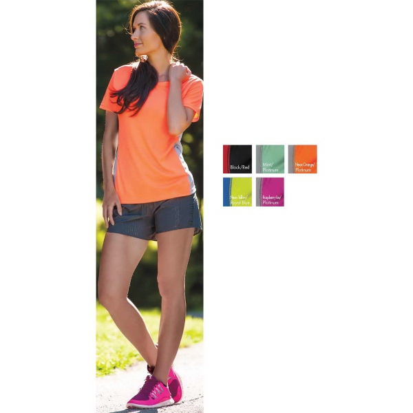 Personalized Boston Women's Color Block S/S Syntrel(TM) Training Tee
