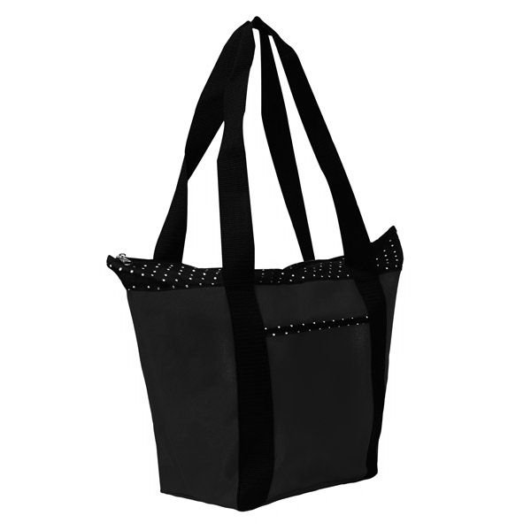 Imprinted Polka Dot Accent Tote