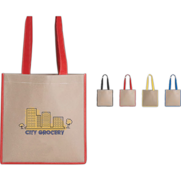 Customized V natural (TM) Kraft Magazine Tote