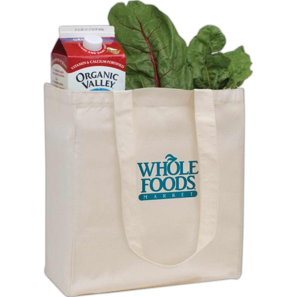 Promotional V Natural (TM) Organic Grocery Tote