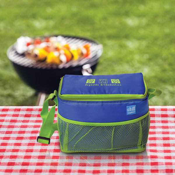 Custom Chill By Flexi-Freeze(R) 6-Can Cooler with Mesh Pockets
