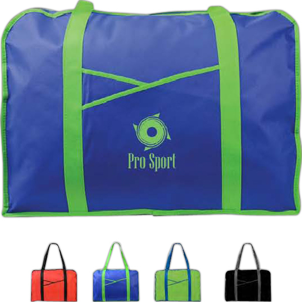 Promotional Poly Pro Criss Cross Pocket Tote