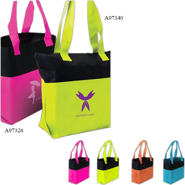 Promotional Two-Tone Accent Tote