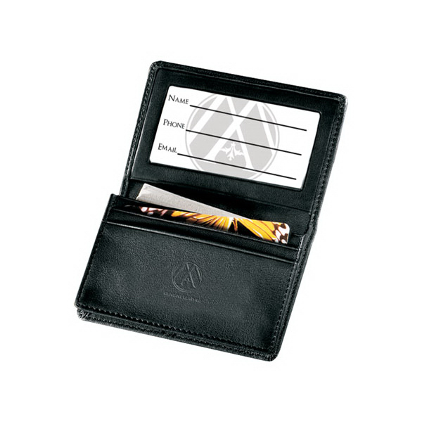 Custom Deluxe Gusseted Business Card Case - Secure Tech