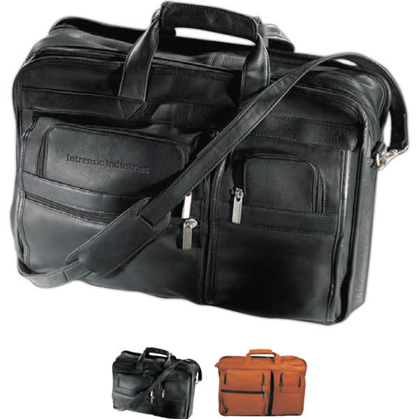 Customized Vaqueta Expandable Multi-Function Briefcase