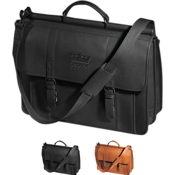 Custom Vaqueta Dowel Rod Laptop Briefcase