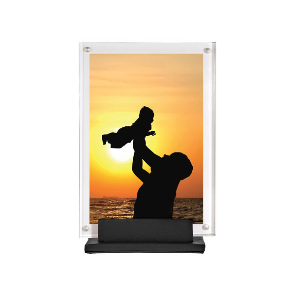 Promotional Acrylic and Leather Picture Frame