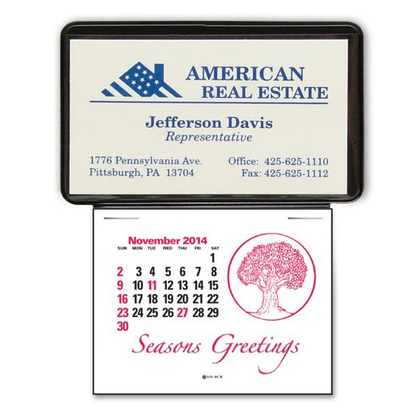 Personalized Press-N-Stick (TM) Business Card Calendar