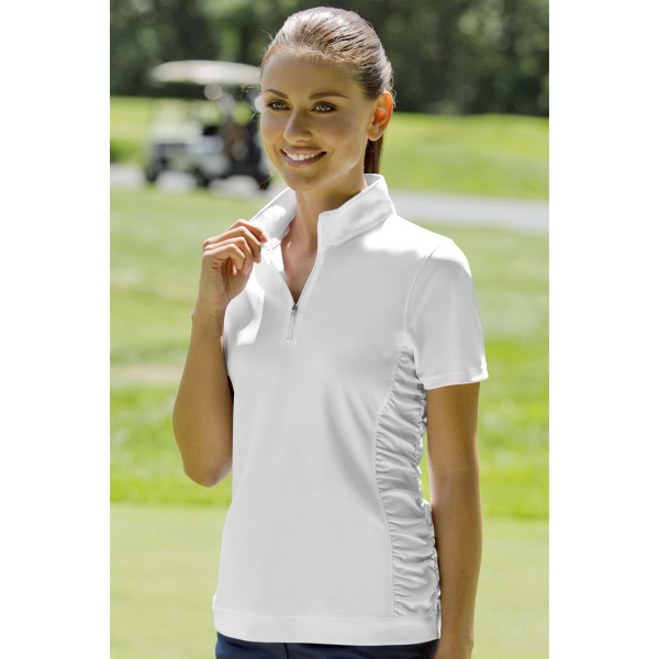 Imprinted Women's Vansport (TM) Omega Ruched Polo