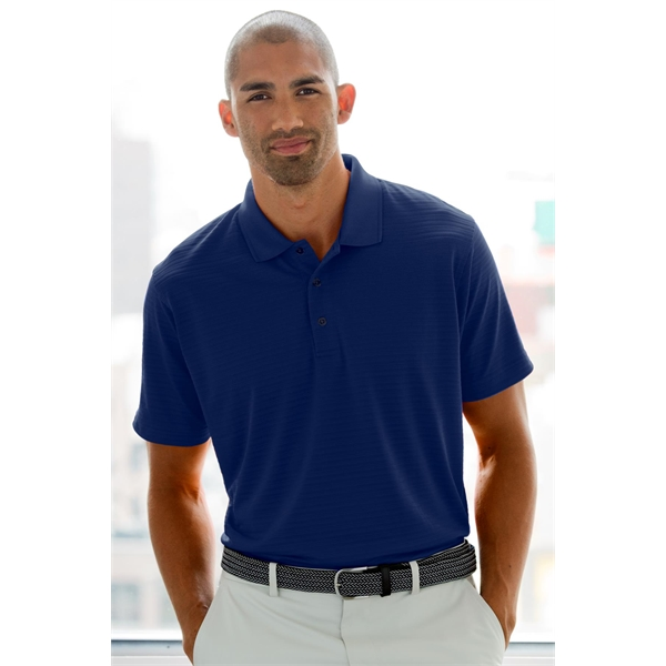 Imprinted Vansport (TM) Two-Color Textured Stripe Polo