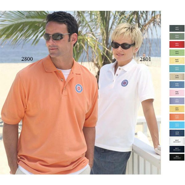 Imprinted Enterprise Pique Polo