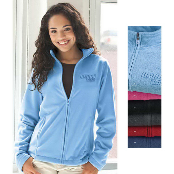 Customized Women's Vantek (TM) Microfiber Full Zip Jacket