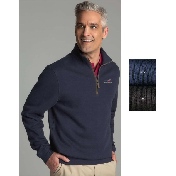 Customized Greg Norman Play-Dry (R) Rib Mock Neck Sweater
