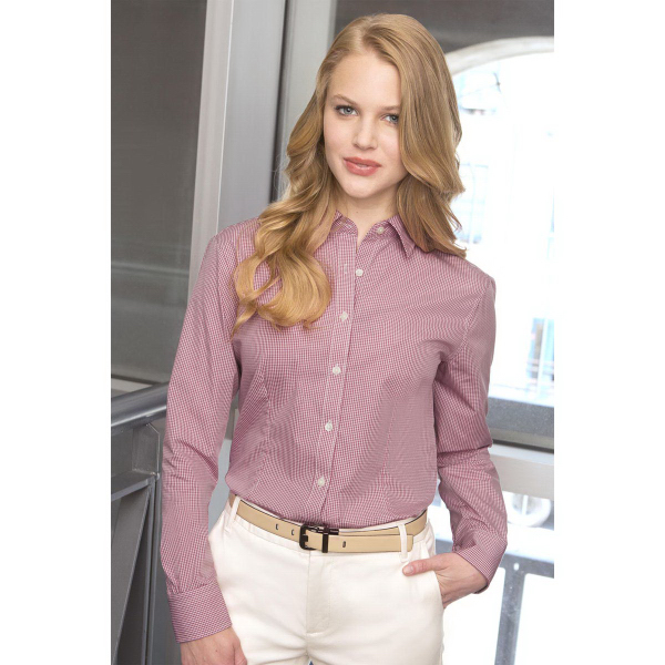 Promotional Women's Van Heusen Easy-Care Gingham Check Shirt