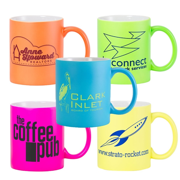 Customized Fluorescent Ceramic Mug - Matte Finish