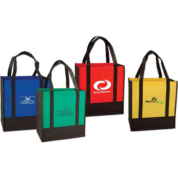 Imprinted Two Tone Grocery bag