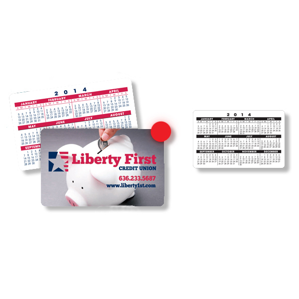 Printed Calendar Wallet Card