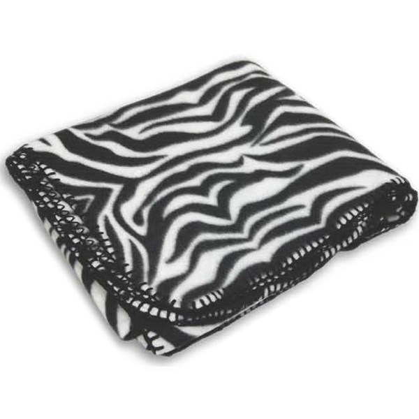 Promotional Zebra Fleece Blanket