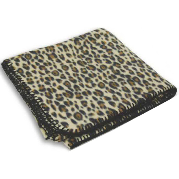 Printed Leopard Fleece Blanket
