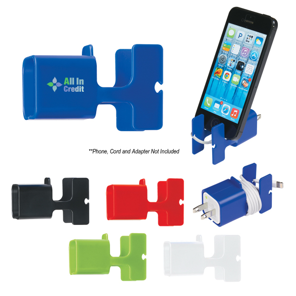Personalized Phone Stand and Cord Wrap Combo