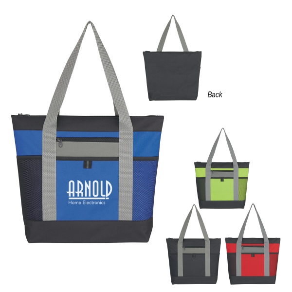 Personalized Tri-Color Tote Bag