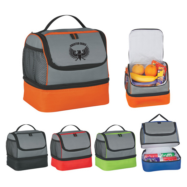 Personalized Two Compartment Lunch Pail Bag