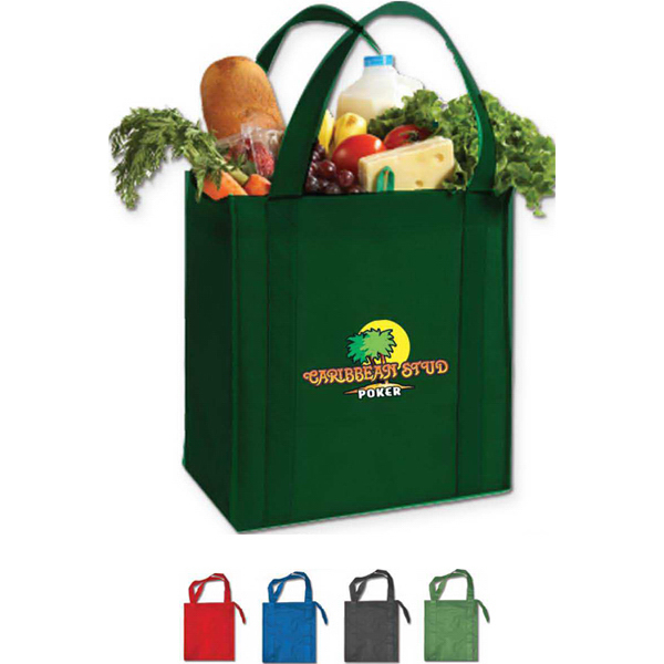 Printed Cyclone insulated grocery tote bag