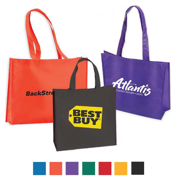 "Imprinted Large Non Woven Tote With 28"" Straps 80 GSM"